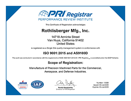 iso 9001 2015 as9100 certification